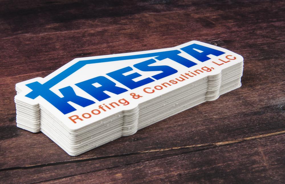 Roofing Logo Ideas Kresta Roofing Logo Die Cut