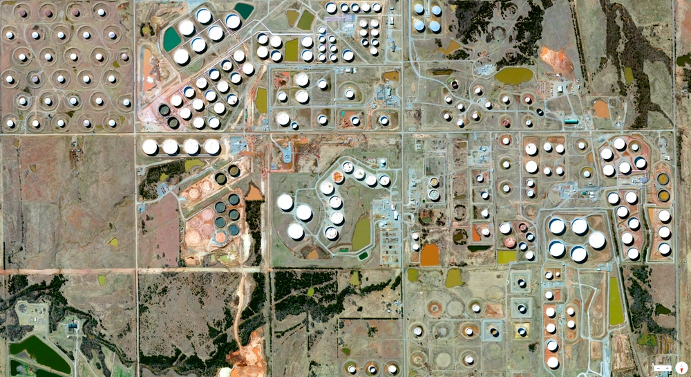 1/20/2014   Oil storage and refineries   Cushing, Oklahoma, USA    35°58′57″N 96°45′51″W