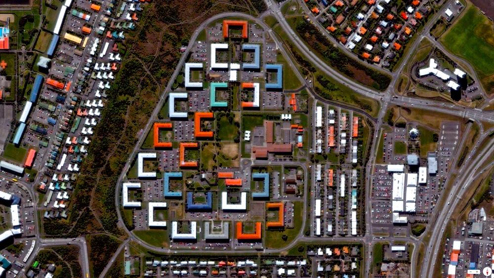 2/2/2014 Colorful roofs in Breiðholt Reykjavík, Iceland 64°08′00″N21°56′00″W