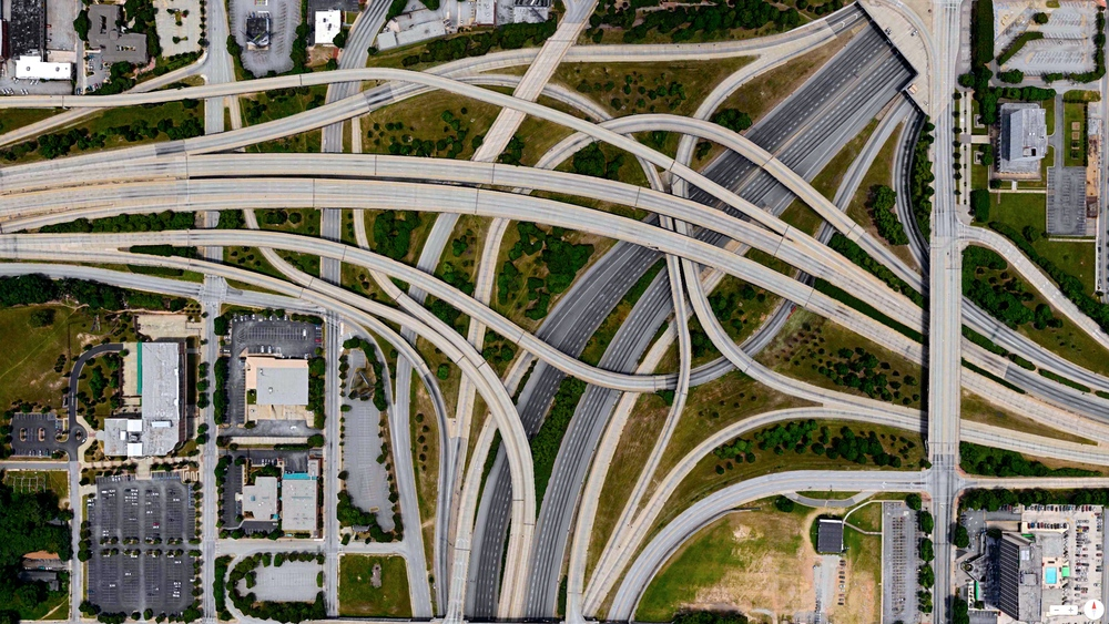 2/23/2014    Spaghetti Junction  (I-20 and I-85/I-75)  Atlanta, Georgia, USA   33°44′7″N 84°23′22″W
