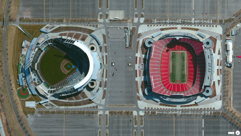 4/7/2014 Kauffman Stadium / Arrowhead Stadium Kansas City, Missouri, USA 39°3′5″N 94°28′50″W
