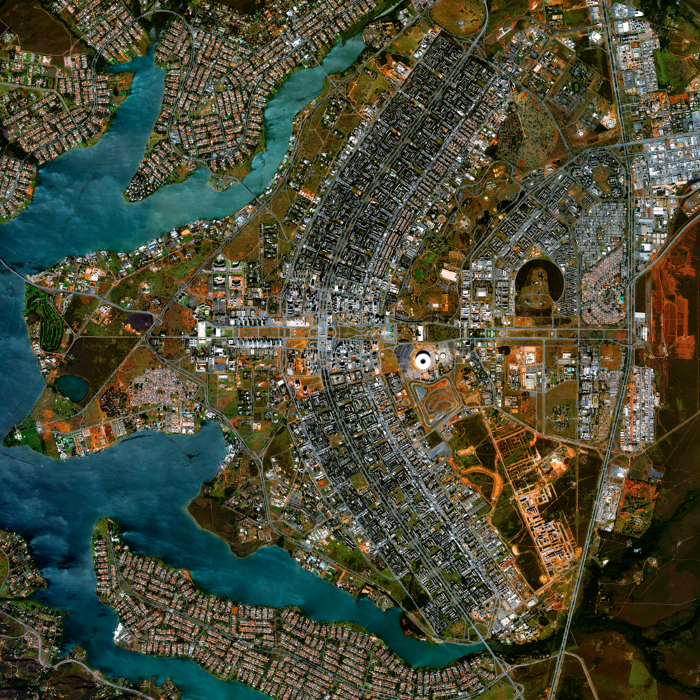 5/1/2015 Brasilia Urban Plan Brasilia, Brazil 15°47′38″S 47°52′58″W   Today we've added seven new pieces to our Printshop, including this Overview of the urban plan of Brasilia. The city was founded on April 21, 1960 in order to move the capital from Rio de Janeiro to a more central location within Brazil. The design - resembling an airplane from above - was developed by Lúcio Costa and prominently features the modernist buildings of the celebrated architect Oscar Niemeyer at its center. To see what else we've added to the Printshop, click the link above.
