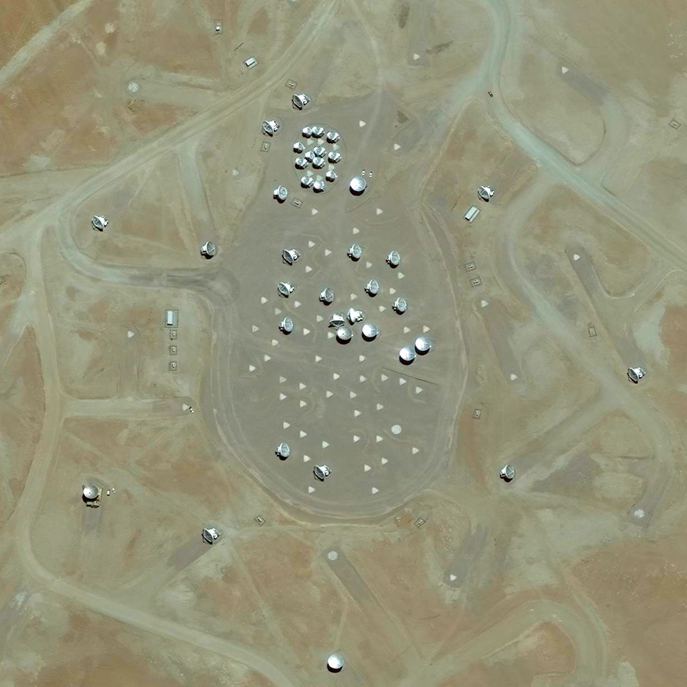 5/19/2015 Atacama Large Millimeter Array Atacama Desert, Chile 23.027784°S 67.754811°W   The Atacama Large Millimeter Array (ALMA) is a collection of radio telescopes in the Atacama desert of northern Chile. Completed in 2013 with 66 12-meter (39 ft), and 7-meter (23 ft) diameter radio telescopes, the facility aims to provide insights on star birth during the early universe and detailed images of planet formation.