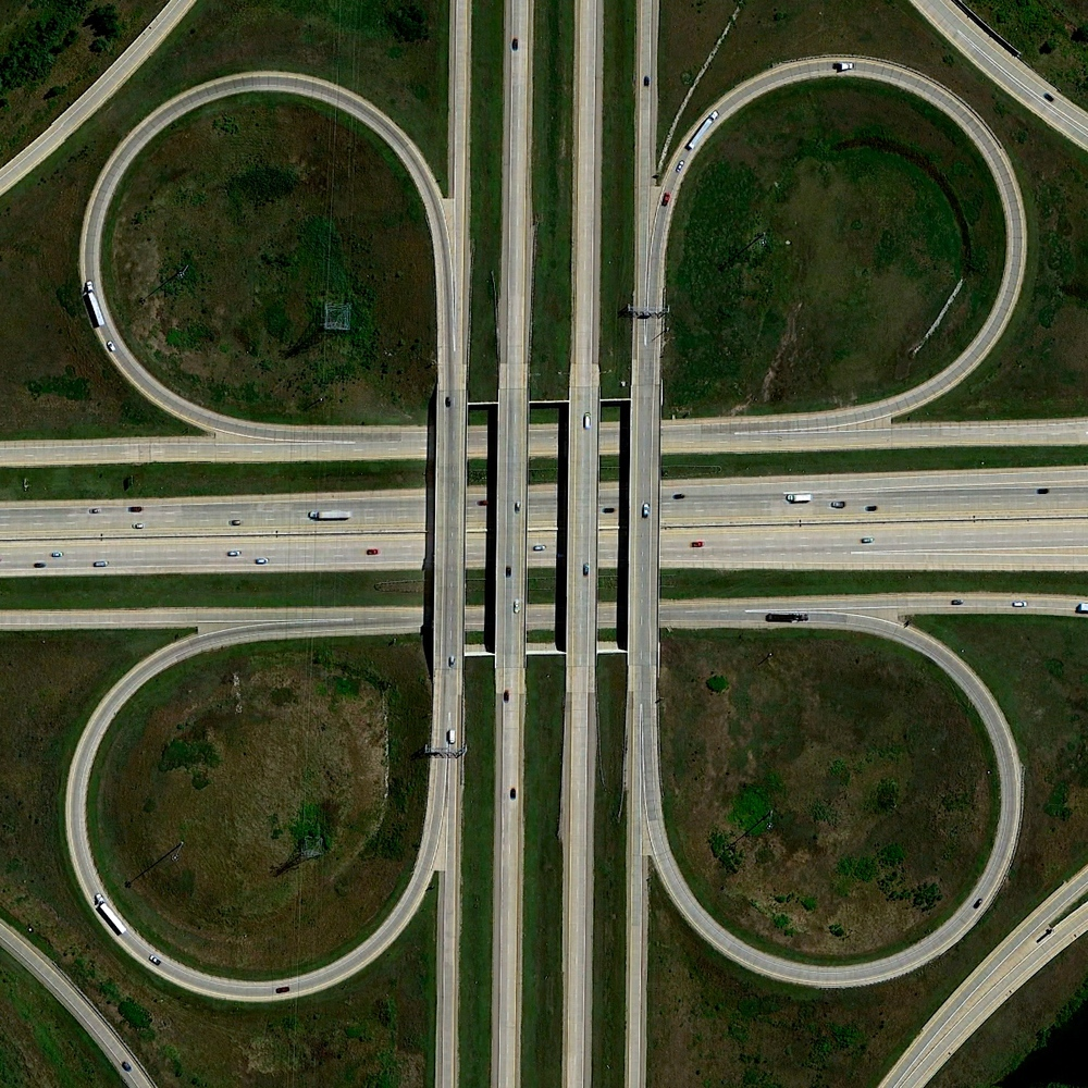 5/22/2015 Cloverleaf Interchange Grand Rapids, Michigan, USA 42.848854037°, -85.678457863°   A cloverleaf interchange is formed at the intersection of U.S. Route 131 and the Paul B. Henry Freeway in Grand Rapids, Michigan, USA. Safe travels to everyone who will be out on the roads this weekend for the holiday!