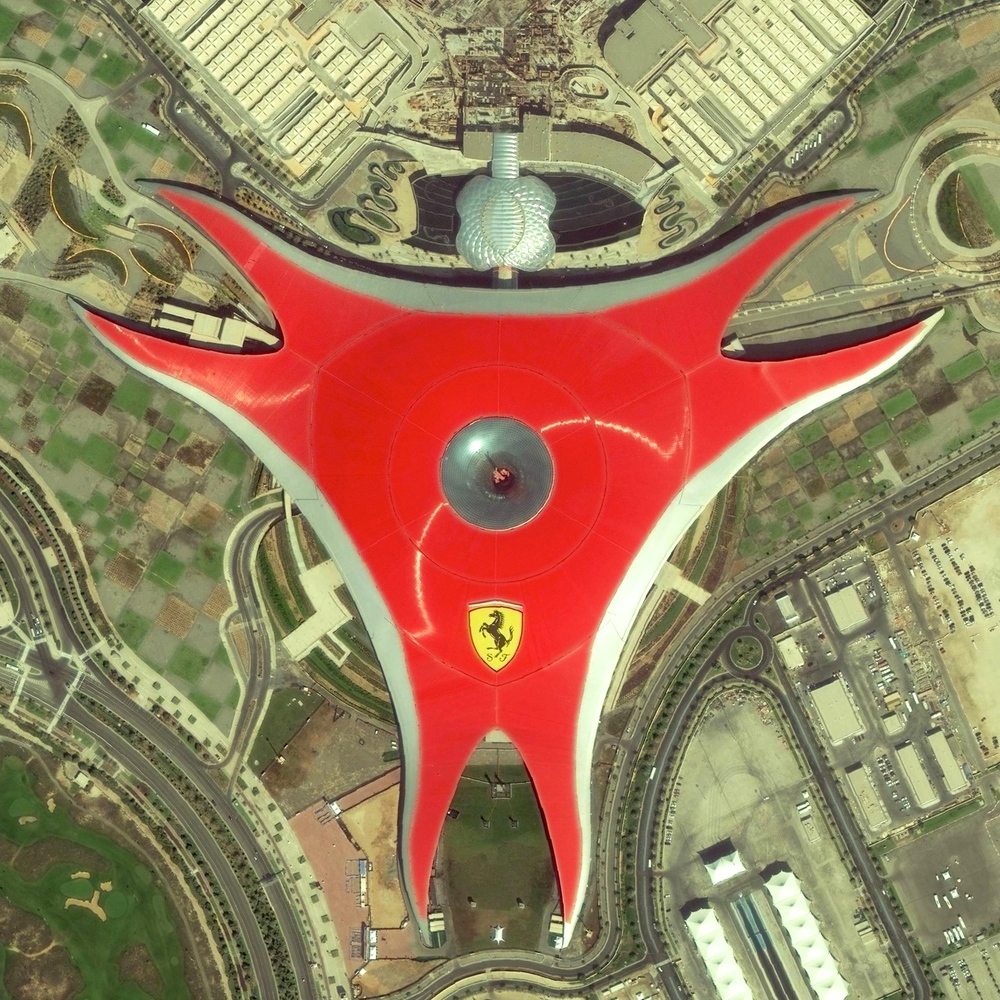 "6/1/2015 Ferrari World Abu Dhabi, United Arab Emirates 24.483238900°, 54.607439100°   Ferrari World is an amusement park located on Yas Island in Abu Dhabi, United Arab Emirates. Covering 86,000 square meters, it claims to be the world's largest indoor theme park and contains ""Formula Rossa"" - the world's fastest roller coaster."