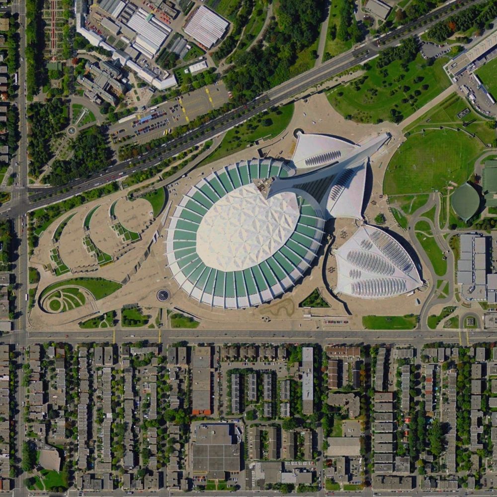 7/1/2015   Montreal Stadium   Montreal, Canada  45.558°N 73.552°W     Olympic Stadium in Montreal, Canada was constructed for the 1976 Olympic Games. The stadium is home to the city's soccer and football teams and also features the world's largest inclined tower (574 feet). Hope all of our followers in Canada had a wonderful Canada Day yesterday!