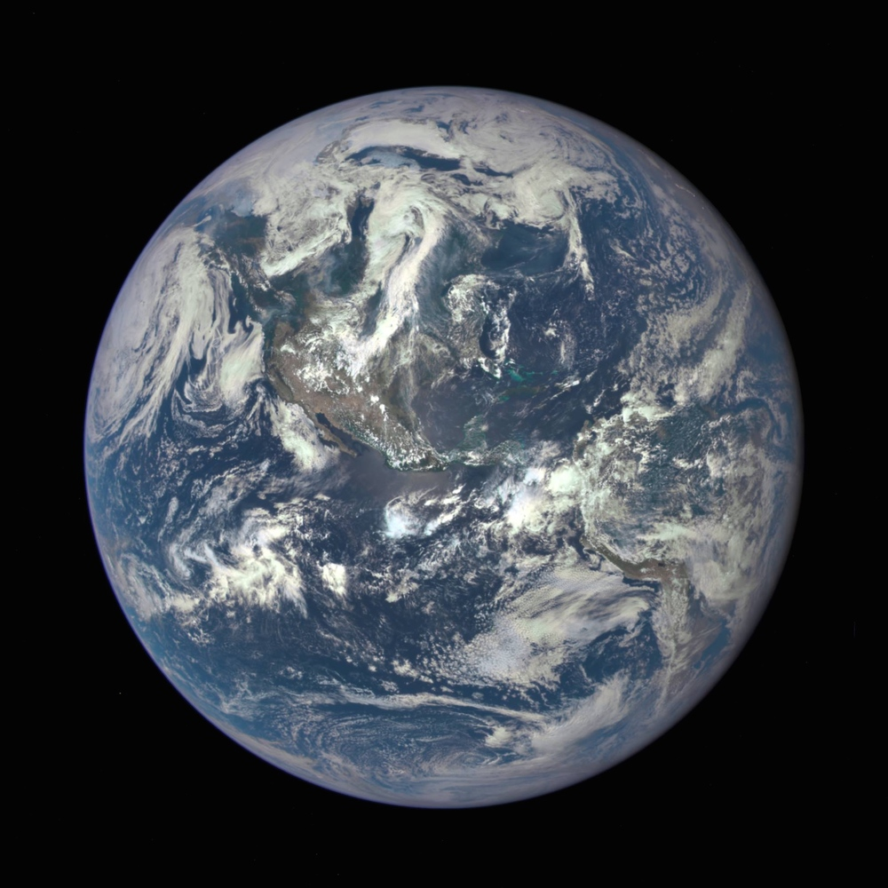 This morning I want to share this incredible image that was released yesterday by NASA. For the first time ever, we can see an Overview of the entire sunlit side of the Earth from one million miles away. By combining three separate photographs taken by the Deep Space Climate Observatory satellite, NASA was able to create this stunning image. I am hopeful that this satellite's ability to capture images and data of our planet will continue to inspire and inform us with perspectives we could have never before considered.