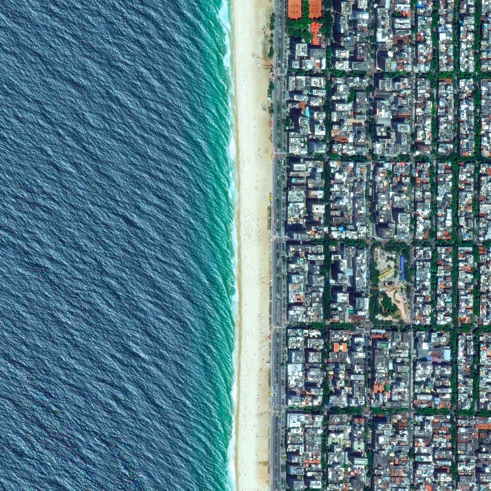 7/22/2015 Ipanema Beach Rio de Janeiro, Brazil -22.986915080°, -43.205067421°   Ipanema Beach in Rio de Janeiro, Brazil is frequently recognized as one of the world's most beautiful beaches. Stretching over two miles, the sand is divided into segments by lifeguard towers known as postos.
