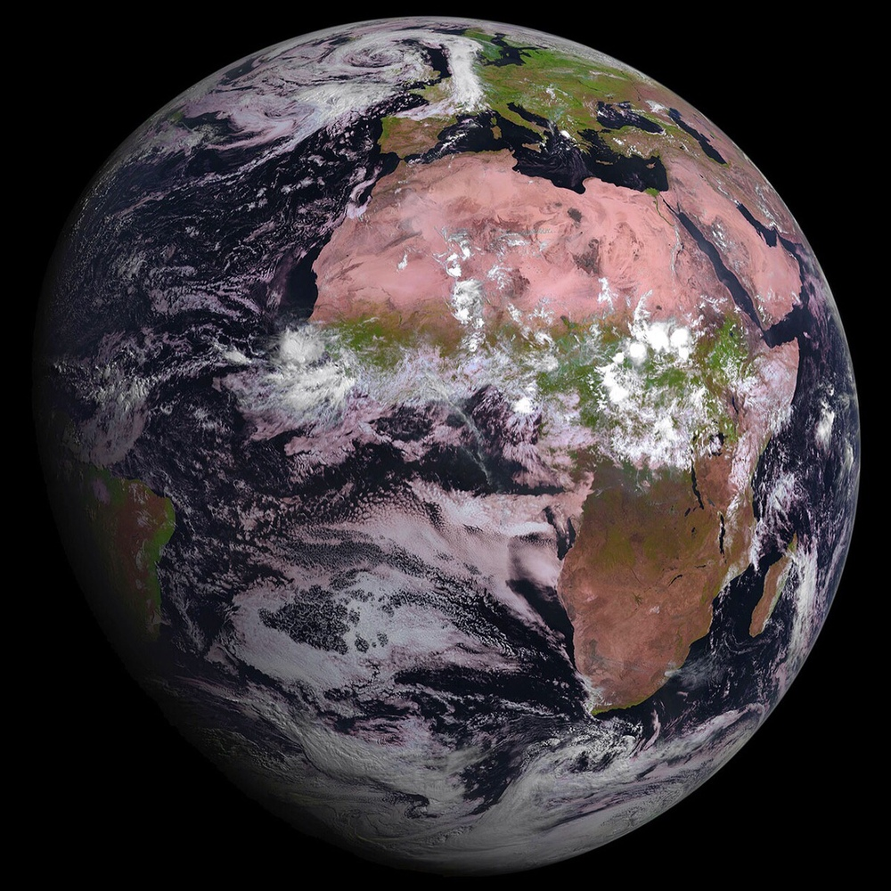The European Space Agency's MSG-4 satellite beamed back its first image this week, capturing a magnificent Overview of Africa and Europe. The weather satellite was launched in mid-July and will now undergo a seven month commissioning process before it goes into hibernation until it is needed as backup for another Meteosat constellation satellite.