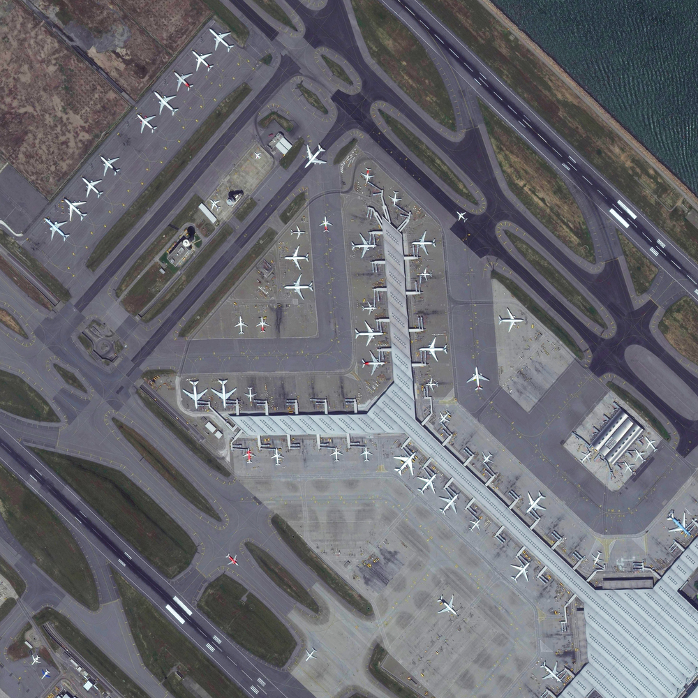 8/11/2015 Hong Kong International Airport Chek Lap Kok, Hong Kong 22°18′32″N 113°54′52″E   Tonight I'm headed off on a trip to China, via Hong Kong International Airport. The facility handles more than 63 million passengers each year. Terminal 1, seen here, is the third largest airport passenger building in the world, measuring more than 6 million square feet. I'll do my best to post during my travels but apologies in advance if internet connection is spotty!