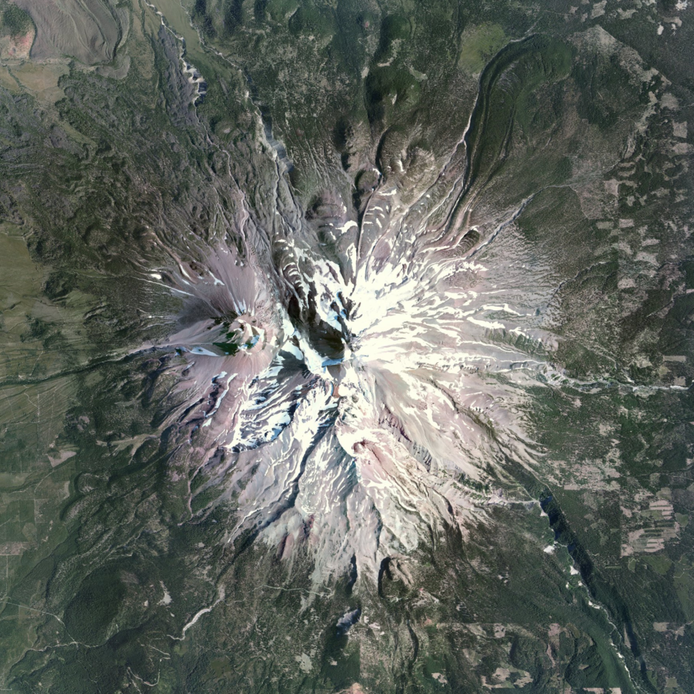 8/17/2015   Mount Shasta    Siskiyou County, California, USA   41°24′33″N 122°11′42″W     Mount Shasta is a potentially active volcano located in Siskiyou County, California, USA. At 14,179 feet, Mount Shasta is not connected to any nearby mountain and stands nearly 10,000 ft above the surrounding terrain.
