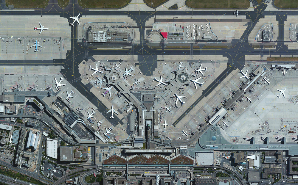 10/15/2015 Frankfurt Airport Frankfurt, Germany 50°02′00″N008°34′14″E   Frankfurt Airport is the busiest airport in Germany, averaging 1,365 flights per day and 65 million passengers per year. With more than 70,000 employees, the airport it is also the single largest workplace in the country.