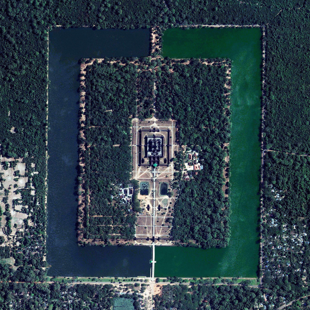 10/19/2015   Angkor Wat   Angkor, Cambodia  13°24′45″N 103°52′0″E     Angkor Wat is a temple complex in Cambodia that is the largest religious monument in the world (first it was Hindu, then Buddhist). Constructed in the 12th century, the 820,000 square meter site features a moat and forest that harmoniously surround a massive temple at its center.