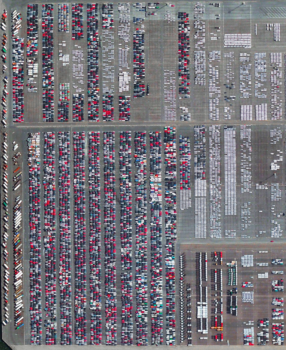 11/16/2015    Port of Antwerp     Antwerp, Belgium    51°16′12″N 4°20′12″E      Automobiles and semi-trailer trucks are unloaded and shipped at the Port of Antwerp in Belgium. In 2014, the facility moved nearly 1.2 million vehicles.