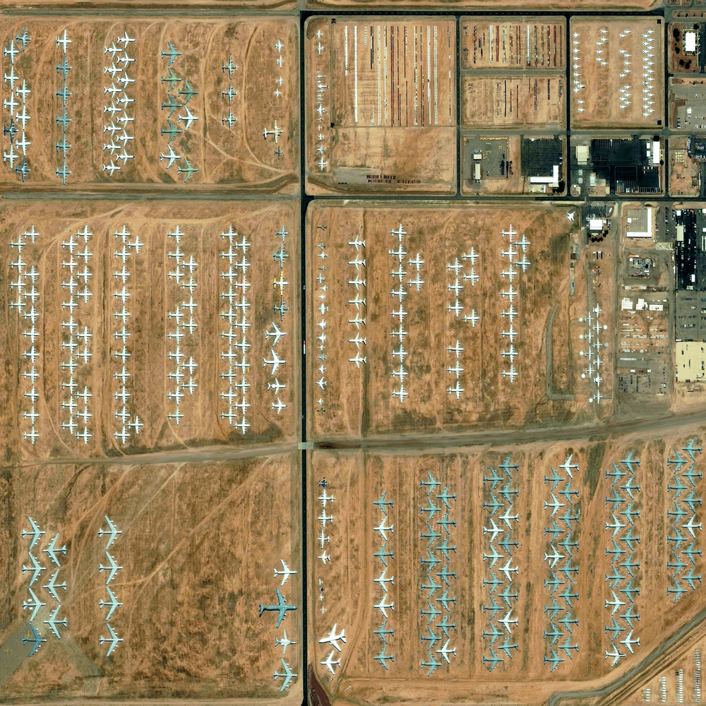 12/26/2015 Davis-Monthan Air Force Base Tucson, Arizona, USA 32°09′59″N 110°52′59″W   The largest aircraft storage and preservation facility in the world is located at Davis–Monthan Air Force Base in Tucson, Arizona. The facility - run by the 309th Aerospace Maintenance and Regeneration Group - contains more than 4,400 retired American military and government aircraft.
