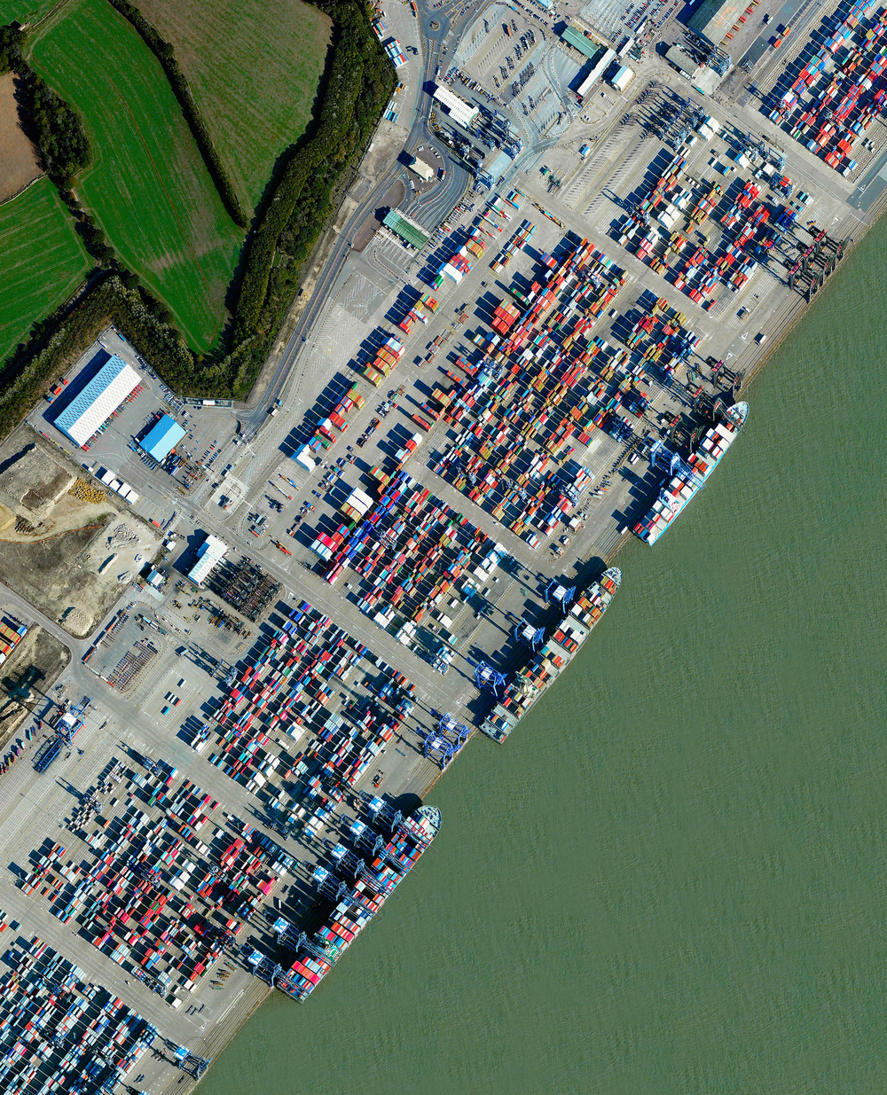 1/2/2016 Port of Felixstowe Felixstowe, United Kingdom 51.954171°N 1.310158°E   The Port of Felixstowe is the busiest port in the United Kingdom, handling approximately 42% of the country's trade of shipping containers. The facility is able to accommodate ships that extend more than 400 meters (1312 feet) and have a cargo carrying capacity that is greater than half the volume of the Empire State Building.