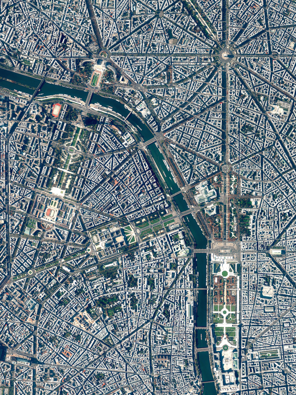 3/6/2016   Paris   Paris, France  48.865797°, 2.330882°     The street plan and distinctive appearance of central Paris, France is largely due to the vast public works program commissioned by Emperor Napoléon III and directed by Georges-Eugène Haussmann, between 1853 and 1870. Haussmann's renovation of Paris included the demolition of crowded and unhealthy medieval neighborhoods and the building of broad, diagonal avenues, parks, squares, sewers, fountains, and aqueducts.