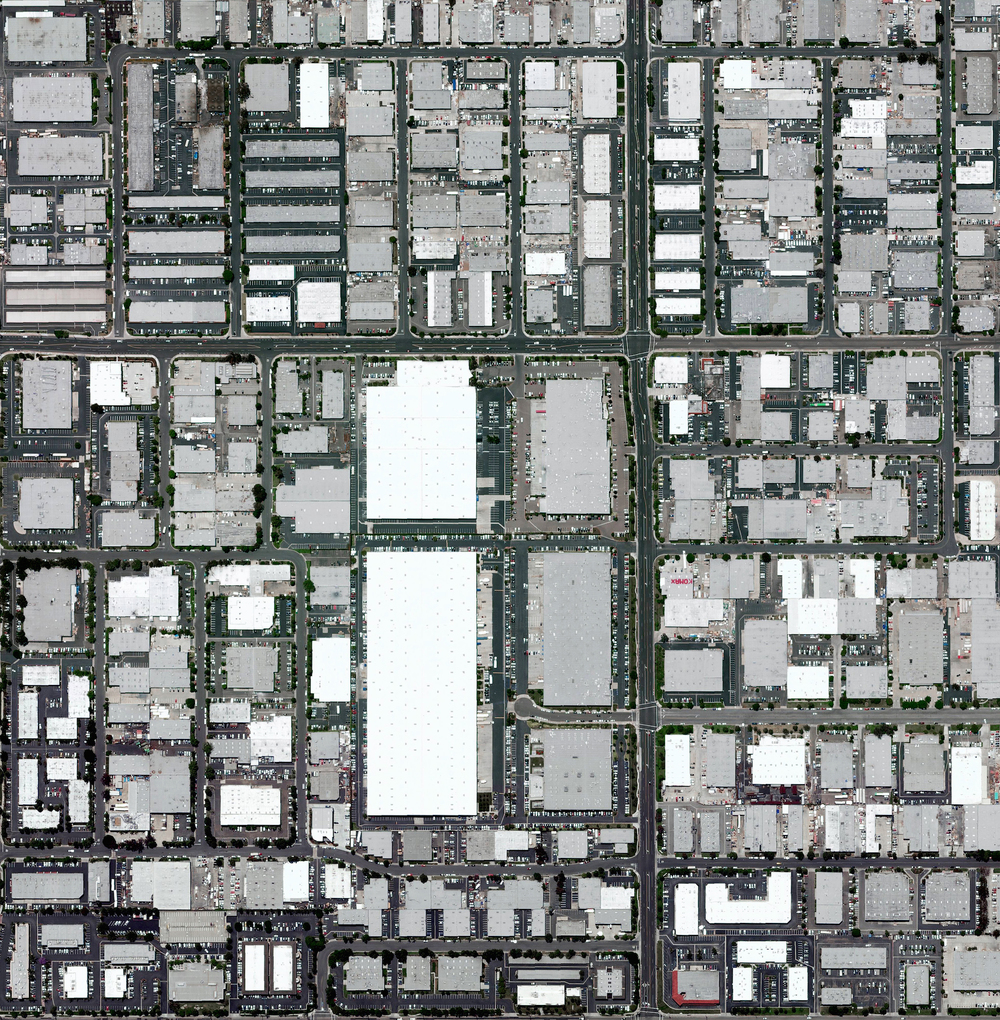 4/2/2016  Industrial buildings  Westminster, California, USA   33.7402928, -118.031207      Industrial buildings cover approximately one square mile in Westminster, a city in the Los Angeles metropolitan area of California, USA. The complex includes numerous warehouses, a roller skating rink, and multiple engineering facilities.