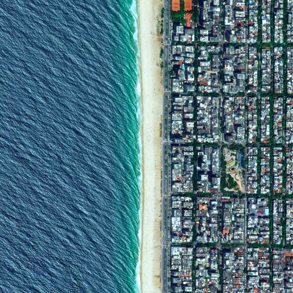 "8/10/2016 Ipanema Beach Rio de Janeiro, Brazil 22°59′01″S 43°12′16″W   All of the exciting coverage at the Olympics has us thinking of this beautiful Overview of Ipanema Beach in Rio de Janeiro! Frequently recognized as one of the most beautiful beaches in the world, its 2.25 miles of sand are divided into segments by lifeguard towers known as ""postos."""