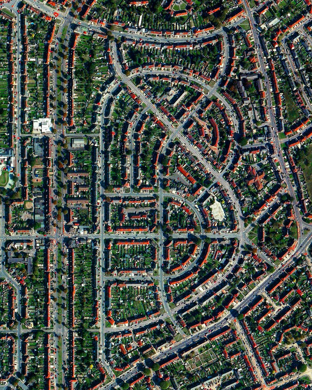 "To celebrate yesterday's launch of  ""Overview""  in the UK, here is a mesmerizing view of residential development in the London suburb of Dagenham. Thank you to everyone who has ordered the book, left an Amazon review, or simply helped to spread the word about the project so far. As I write this in New York, it is very powerful to see this idea resonate not only across the pond, but across the globe. If you have friends in the UK that you think would enjoy the Overviews or the book, a tag or share would be enormously helpful to keep the momentum going. I hope everyone has a fantastic weekend, wherever you are in the world!"