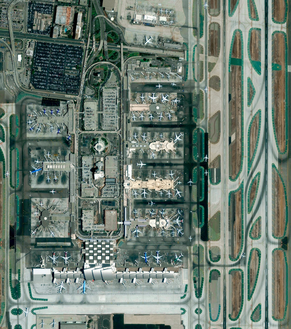 9/13/2016 Los Angeles International Airport Los Angeles, California, USA 33°56′33″N 118°24′29″W   This morning I'm flying to Los Angeles for a couple of days through the city's international airport, commonly referred to as LAX. Last year, the facility handled nearly 75 million passengers, making it the seventh busiest in the world.