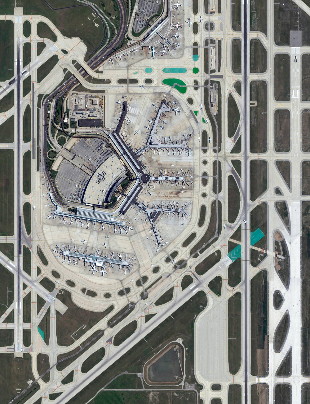 12/23/2016   Chicago O'Hare International Airport   Chicago, Illinois, USA  41°58′43″N 87°54′17″W     Today is expected to the busiest travel day of the year in advance of this weekend's holidays. In the United States alone, more than 103 million people are expected to be travel more than 50 miles this week. Chicago O'Hare International Airport, seen in this Overview, is the fourth-busiest airport in the world and is expected to handle the majority of the ~ 4.5 million people flying to and from Chicago, Illinois this weekend. Whether you are in the air, on the road, or safe at home, I hope you all have a joyous and wonderful holiday!
