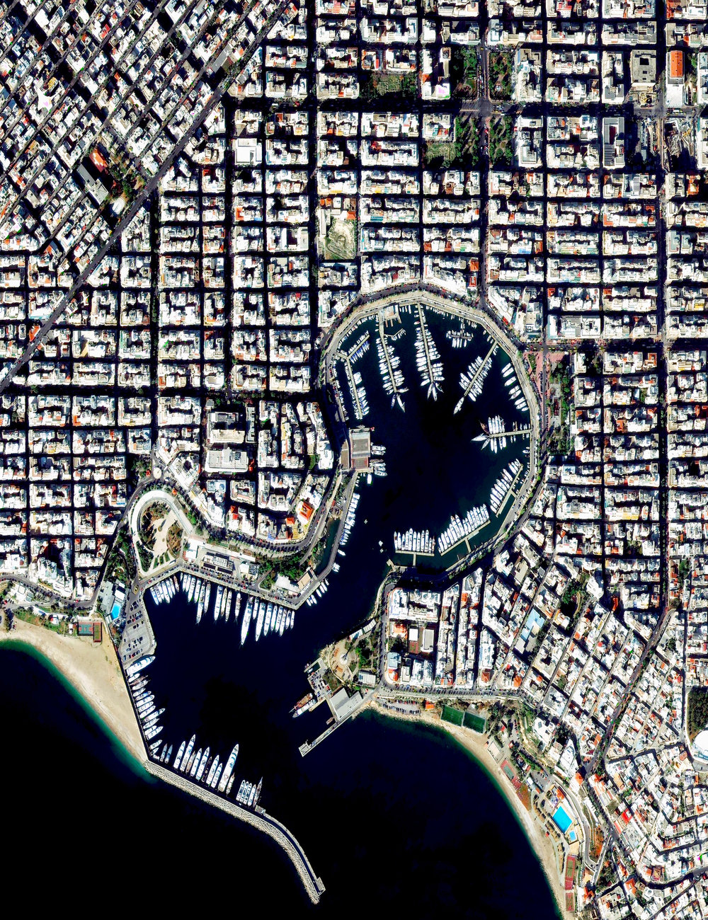 1/17/2017 Piraeus Marina Piraeus, Greece 37.9377373, 23.645820   The Piraeus Marina is located on the Bay of Zea and is surrounding by gridded streets in the Greek city of Piraeus. The city was developed in the early 5th century BC, when it was selected to serve as the port destination of classical Athens. Now, the city contains the second largest passenger port in the world, which services about 20 million passengers every year.