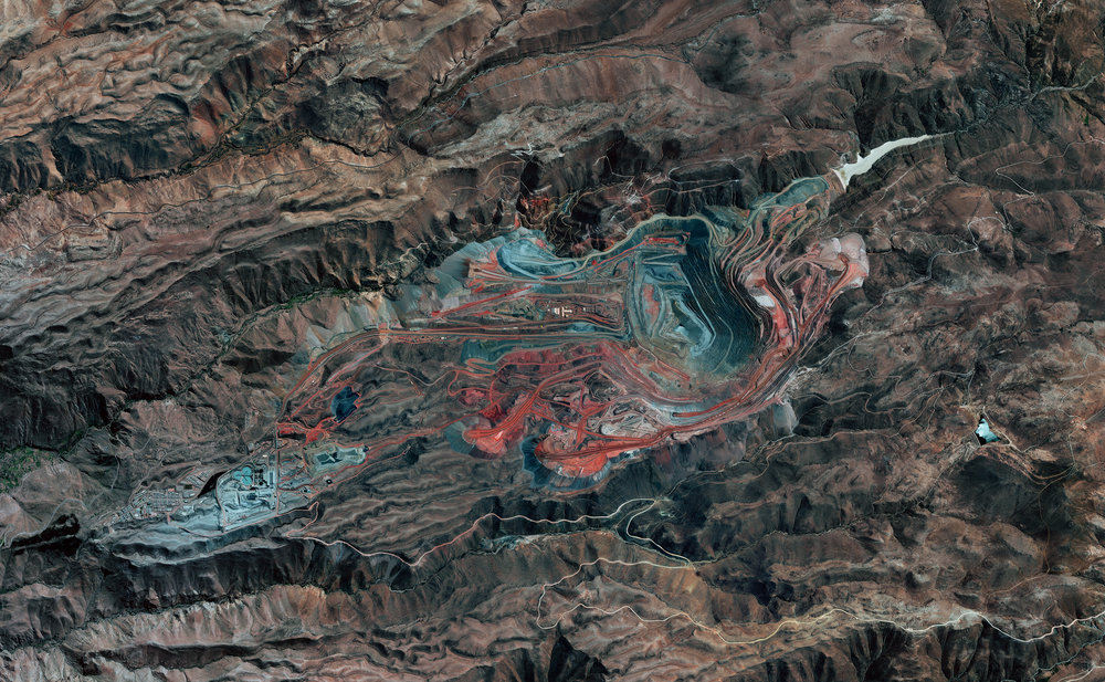 5/3/2017 The Cuajone Mine, Peru  Peruvian Andes, Peru -17.060772, -70.729159 The Cuajone Mine is located near the district of Torata, in the southern range of the Peruvian Andes. The mine is best known for its copper deposits, but it other materials such as silver, zinc, and molybdenum have been extracted there as well. Operations began in 1970, and by 2009 accounted for 16% of the country's copper production. Source imagery: DigitalGlobe