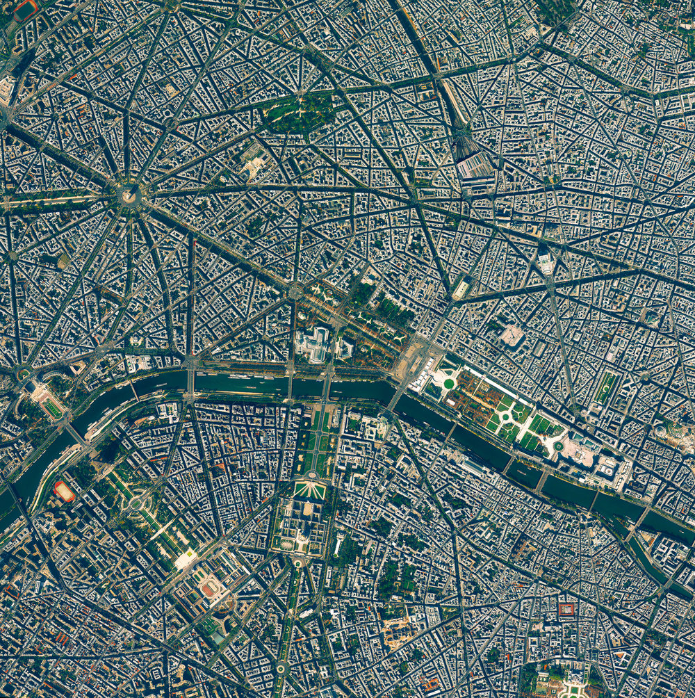 "3/25/2017 Paris Paris, France 48.852716, 2.344834 Paris is the most populated city in France, and the ninth most populated city in Europe, with 2.2 million inhabitants. Known as ""The City of Light,"" the city served as a central hub for luminaries during in the Age of Enlightenment, and also as a literal center of light as one of the first European cities to use gas street lamps in the 1860's. Source imagery: DigitalGlobe"