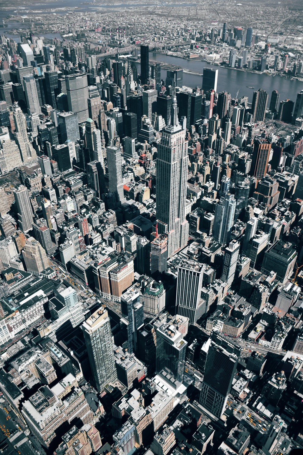 3/31/2017 Empire State Building New York, New York 40.748334, -73.985523 This week I was fortunate enough to take a helicopter flight over NYC with the incredible crew at @nyonair. One of my favorite moments was when we flew over Midtown, allowing me to capture this gorgeous view of the Empire State Building. The structure is the second tallest building in the city, 5th tallest in the United States, and 34th tallest in the world standing at 1,454 feet, with 102 stories. Image taken by Micah Marshall