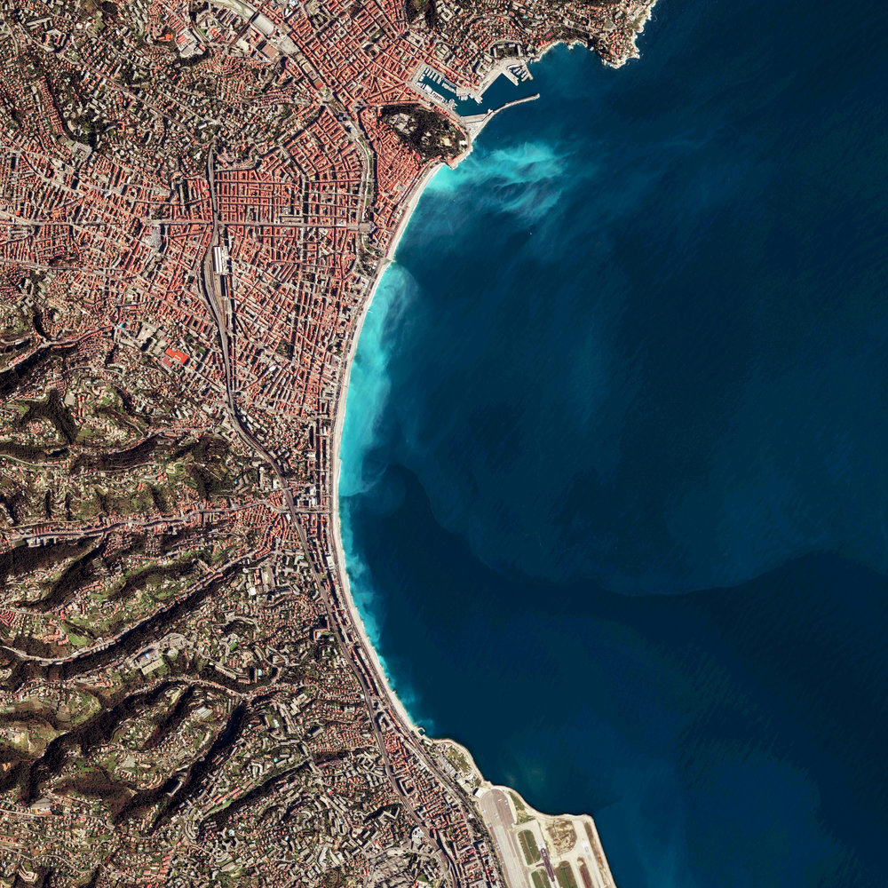 5/2/2017 Nice Nice, France 43.710195, 7.261873 Nice is the fifth most populated city in France with roughly one million inhabitants. The city also has one or the highest hotel capacities in the country as its visited by more than four million tourists each year. This Overview is also now available in our Printshop. Source imagery: DigitalGlobe