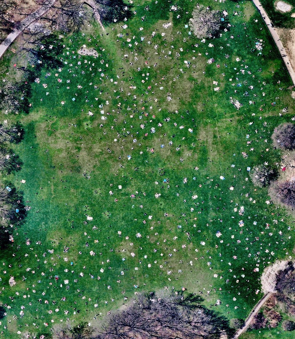 5/9/2017 Sheep's Meadow Central Park, New York 40.7707835,-73.9776182 Sheep Meadow covers 15 acres on the west side of Central Park in New York. As seen in this Overview, the meadow often draw massive crowds of sunbathers looking for a place to lay out, and can attract up to over 30,000 visitors a day in the summer months. Source imagery: NearMap