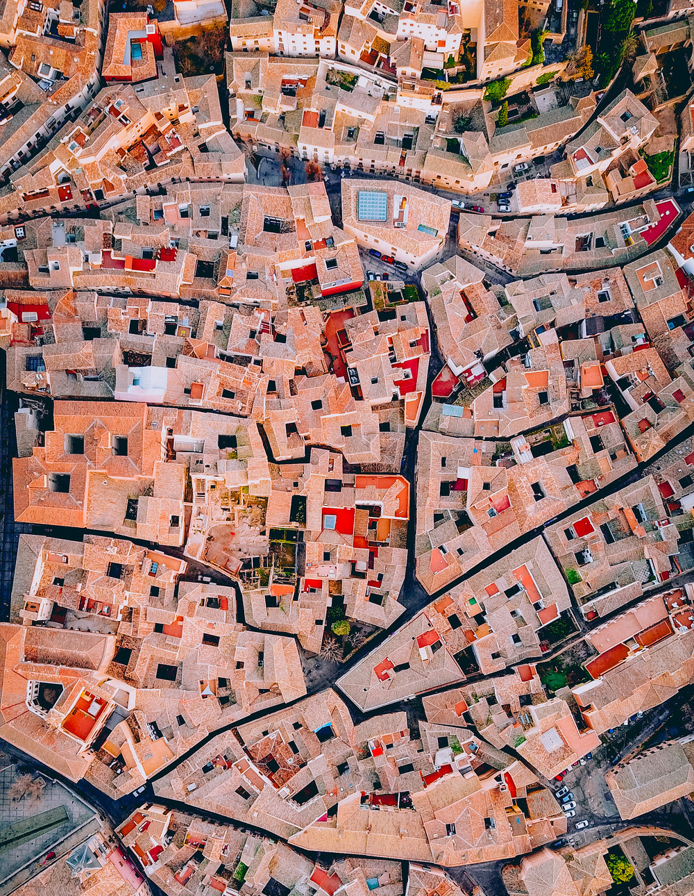 5/26/2017  Toledo, Spain  39.858264, -4.024749  Check out this incredible drone shot of Toledo, Spain. The city is located in central Spain and is home to roughly 80,000 residents. Located on a mountaintop with sweeping views, Toldeo is often recognized for its historic sites, including the Alcázar and the Zocodover.    Drone photo by: Martin Sanchez