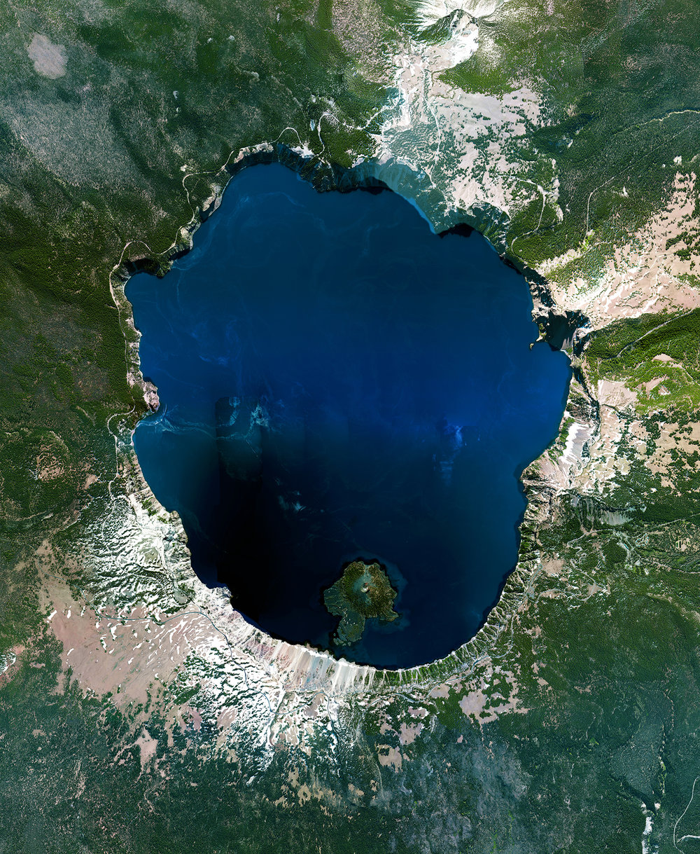5/27/2017 Crater Lake Fort Klamath, Oregon, USA Crater Lake is located in Fort Klamath, Oregon, USA. The awe-inspiring, intense blue water sits in a crater that was formed 7,700 years ago by the collapse of a volcano, Mount Mazama. As no rivers flow into or out of the crater, the evaporation is compensated for by rain and snowfall. At 1,943 feet (592 meters), the lake is the deepest in the United States.
