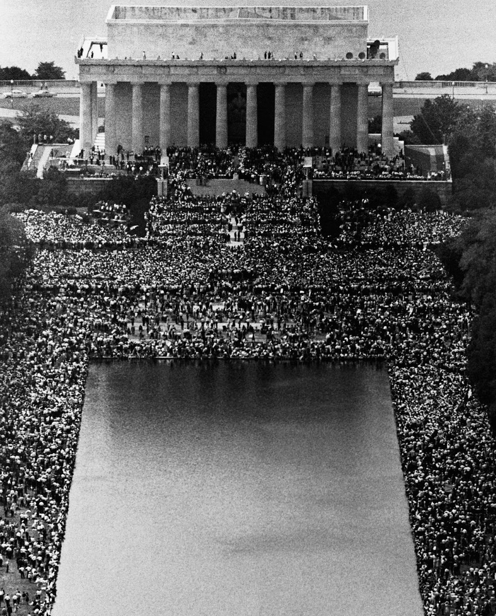 """Today is Martin Luther King, Jr. Day here in the United States - honoring the Baptist minister, activist, humanitarian, and leader of the African-American Civil Rights Movement. This overview captures the Lincoln Memorial during King's famous """"I Have A Dream Speech"""" in Washington, D.C. on August 28, 1963. In front of more than 250,000 civil rights supporters, King described his dreams of freedom and equality arising from a land of slavery and hatred.  Photo credit: Life"""