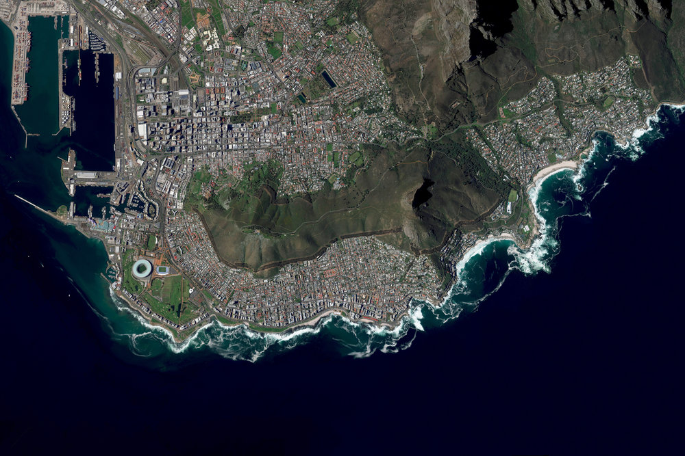 Cape Town - the second largest city in South Africa - is on the brink of 'Day Zero' of a water crisis. The current projection suggests all taps in the city will be turned off on April 12th. Once this occurs, residents will have to travel to ~ 200 municipal water points in the city where they can collect water (limited to 6.6 gallons per person a day). The water problem has been building for years due to a growing population and mismanagement of water resources. On top of this, an unprecedented three year drought has drained the city of it's reserves. -33.9036202, 18.405870