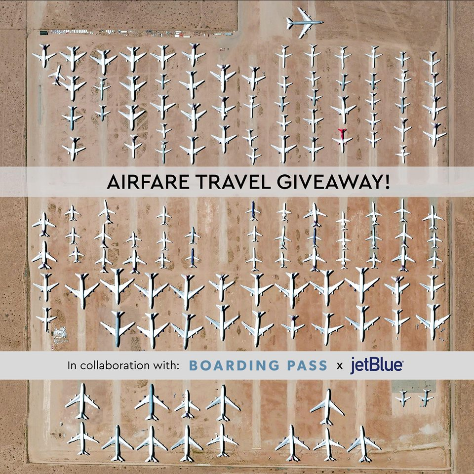 ✈️✈️ ✈️ INSTAGRAM GIVEAWAY! We're collaborating with  @ boardingpassnyc to give you a chance to win two JetBlue flight certificates for you AND a friend to any JetBlue destination. Window seats are highly encouraged!!!  Click here for instructions on how to enter:  https://bit.ly/2IrKtnQ .  One entry will be selected at random on May 30, 2018 and BOTH people will win a flight certificate. Best of luck!