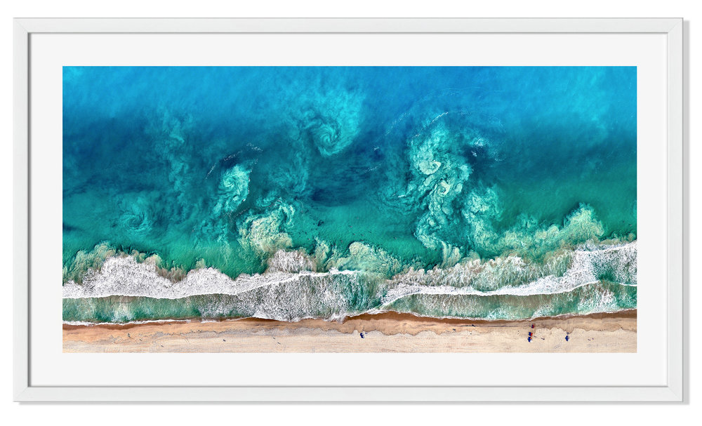 """PRINT GIVEAWAY! We're giving away two 20x10"""" Perth Waves prints this week. To enter, simply follow us on Instagram at @dailyoverview, tag a friend in the comments of the Instagram post, and you'll BOTH be entered to win! You can also click on the link in our Instagram bio to see what's new in our  Printshop , including this stunning shot that captures swirling waves offshore. The beaches in Perth are world-famous for their beautiful white sand and clear blue water.  Source imagery: Nearmap"""