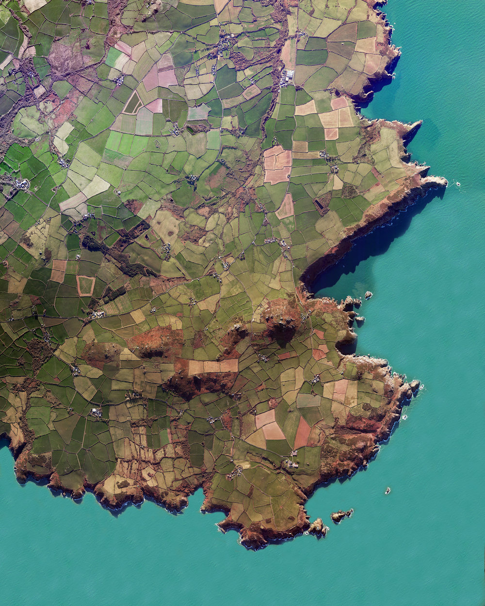 """Check out this Overview of Pembrokeshire County, Wales, created by our founder Benjamin Grant. This area is home to Pembrokeshire Coast National Park, which includes a 186-mile walking trail called the Pembrokeshire Coast Path. In the north of the county are the Preseli Hills, a wide stretch of high moorland with many prehistoric sites and the probable source of bluestones used to construct the inner circle of Stonehenge in England.  51°50'42.0""""N, 4°50'32.0""""W  Source imagery: DigitalGlobe"""