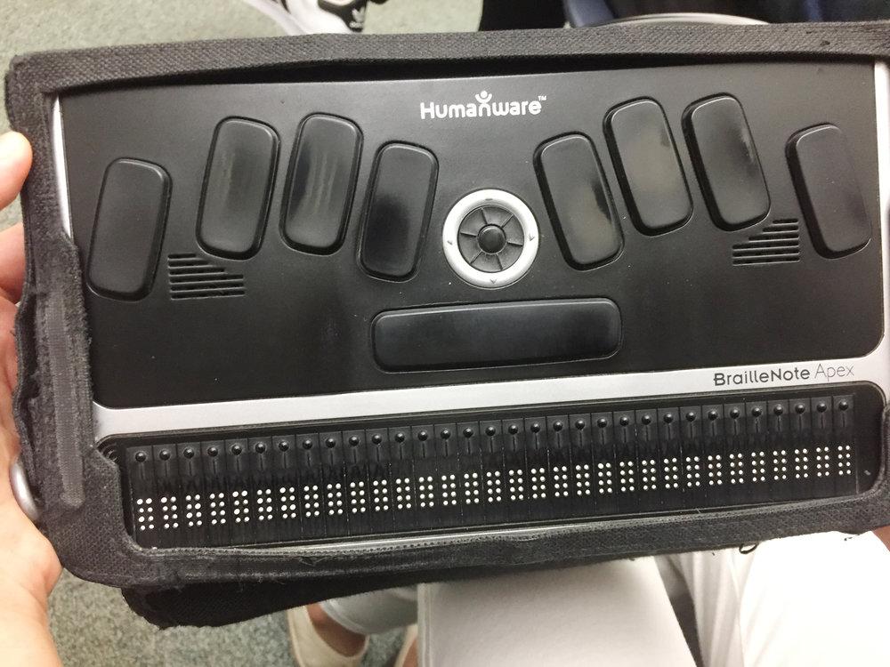 Refreshable Braille Typewriter