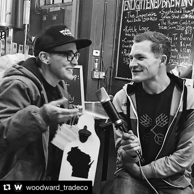 Here's me attempting public speaking. Beer in hand. It's my best shot, folks. ✨ . #Repost @woodward_tradeco ・・・ Huge shoutout to fellow local maker Matt at @stateofcraftbeer for having @andi_the_human on his 24 Hour-Facebook-Live-Telethon! If you haven't heard of his book - go check it out! Seriously, follow his tag and go look, it's gorgeous! Do it! Go!🍻💕✨