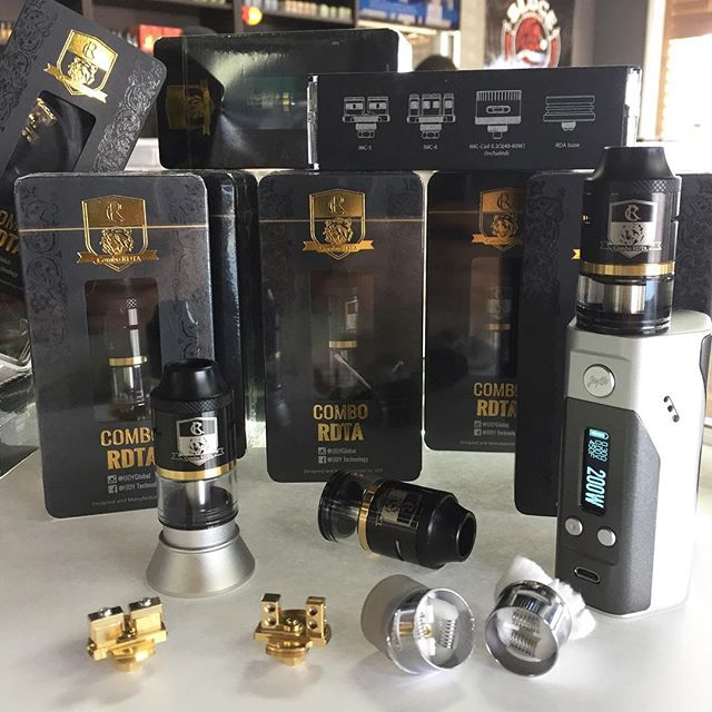 🚨#New #RDTA #alert 🚨 the #Combo RDTA/RDA/SUB-OHM TANK by #ijoy the makers of the smash hit limitless RDTA plus. The Combo is the first RDTA to have 7 interchangeable 24kt gold plated decks. 2 are included. 1 goon style, 1 velocity, and 1 prebuilt replaceable RDA coil. Hands down best RDTA TANK on the market. The only tank giving the TFV8 a run for its money. #nowavailable #vapecity #vapecityark