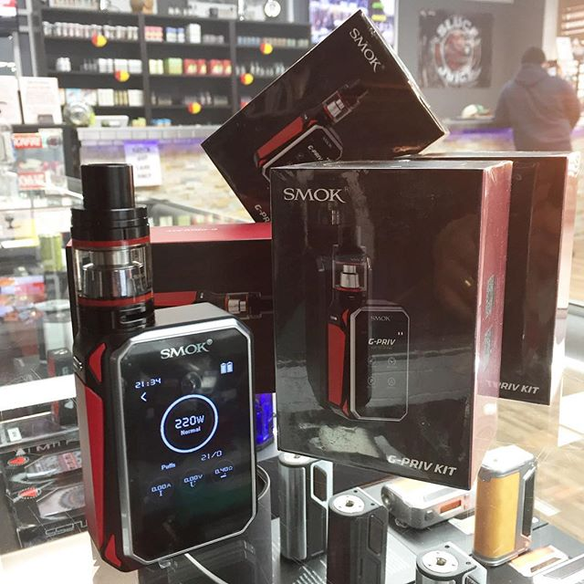 #New in stock G-PRIV KIT by #Smok  220watt dual battery touch screen device w a TFV8 #BigBaby tank. #nowavailable #vapecity #vapecityark
