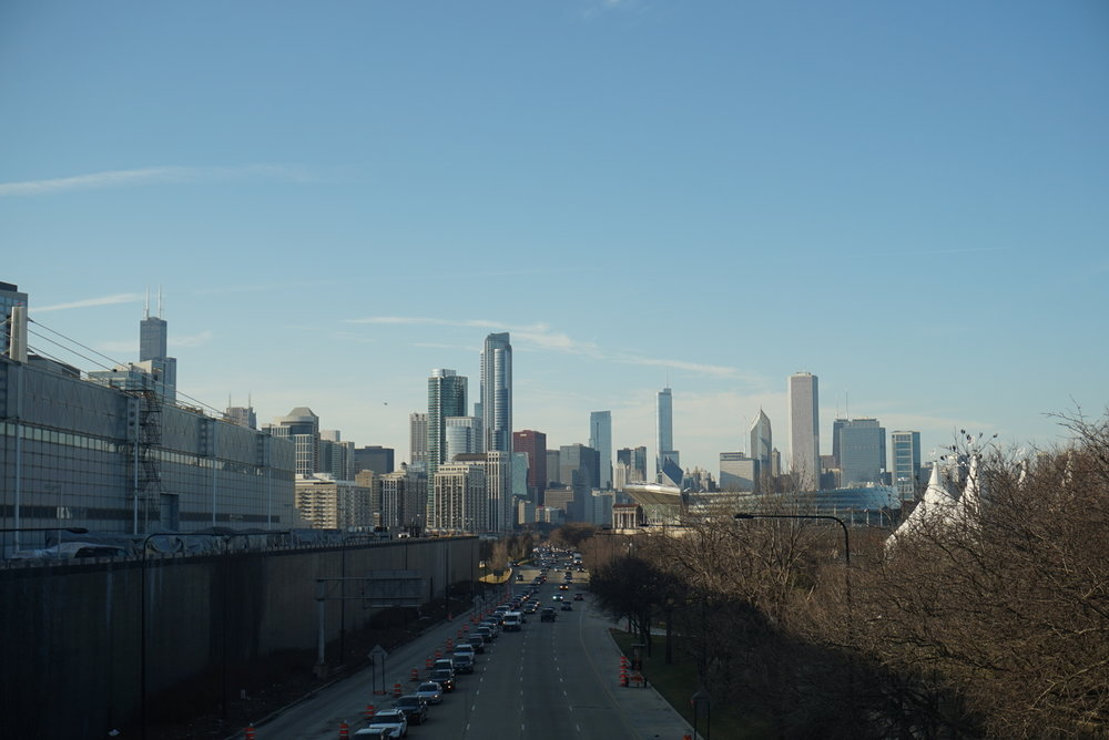 Beautiful City.  View from McCormick Place ,Chicago, Illinois  Written by Warathaya C. and Paradee M.