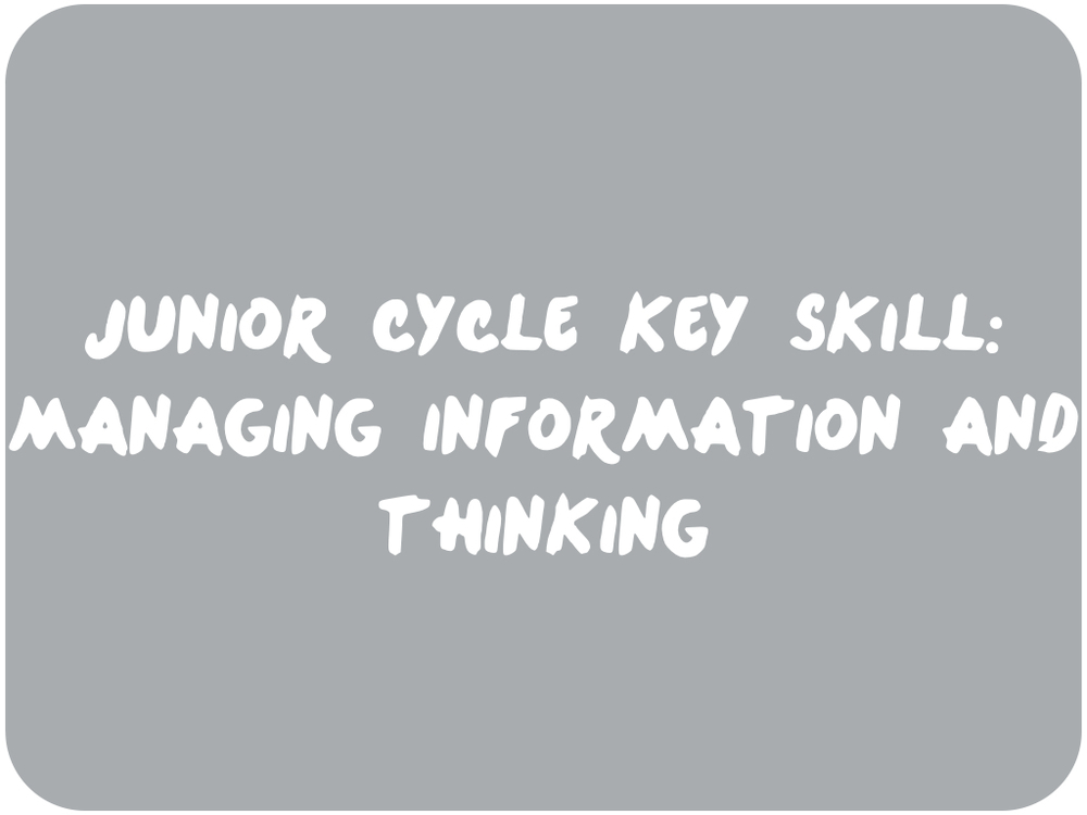 Managing Information and thinking