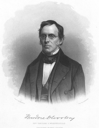 Theodore Dwight Woolsey (1801 – 1889) was an American academic, author and president of Yale College from 1846 through 1871.