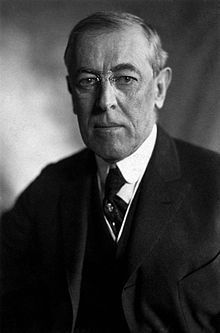 Thomas Woodrow Wilson (1856 – 1924) was the 28th President of the United States, in office from 1913 to 1921. A leader of the Progressive Movement, he served as President of Princeton University from 1902 to 1910, and then as the Governor of New Jersey from 1911 to 1913. With the Republican Party split in 1912, he led his Democratic Party to control both the White House and Congress for the first time in nearly two decades.