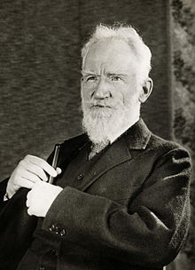 George Bernard Shaw (1856 – 1950) was an Irish playwright and a co-founder of the London School of Economics.