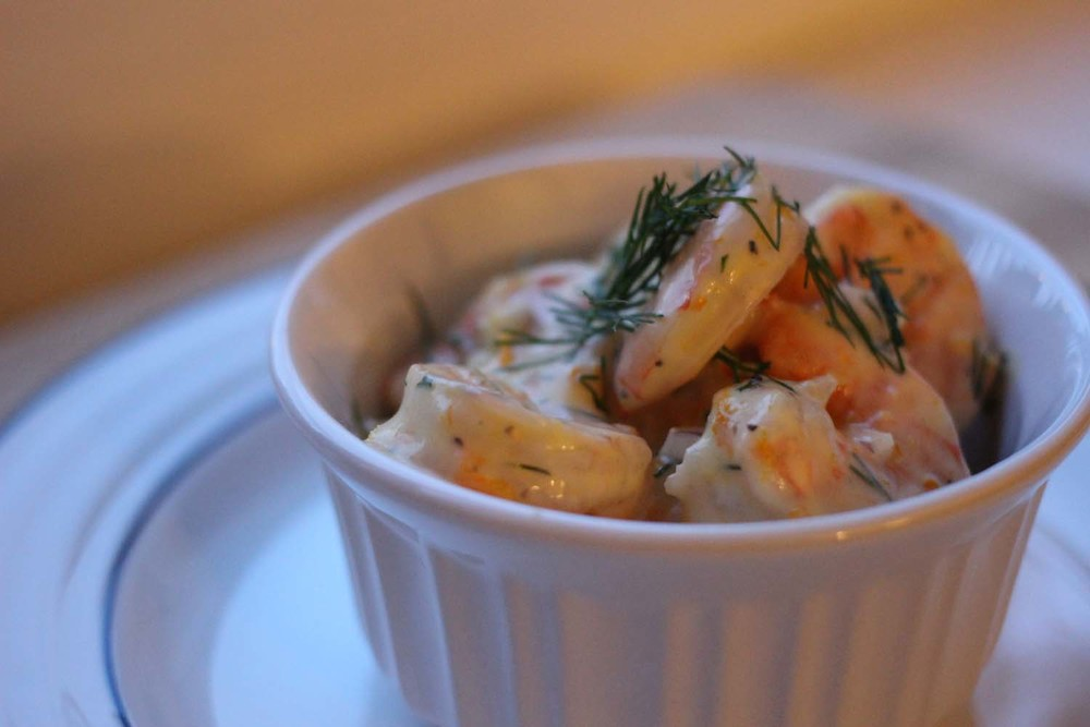 Roasted Shrimp Salad; Image:  Laura Messersmith
