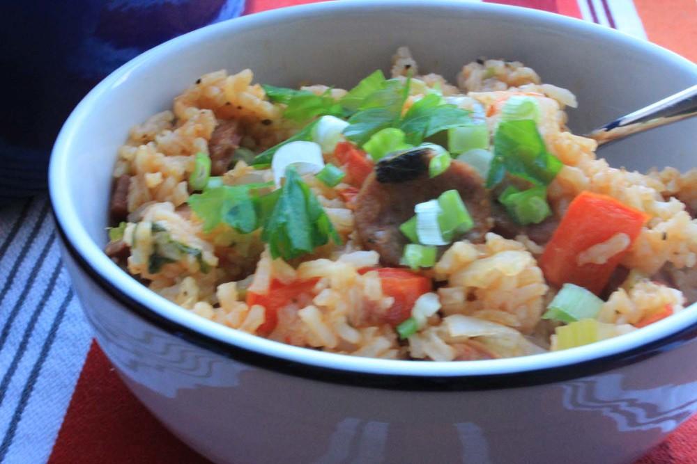 Shrimp & Sausage Jambalaya| Image:Laura Messersmith
